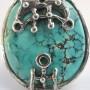"""Перстень ручной работы """"Знак Урана"""", с натуральной бирюзой.  Автор – MAGNA."""